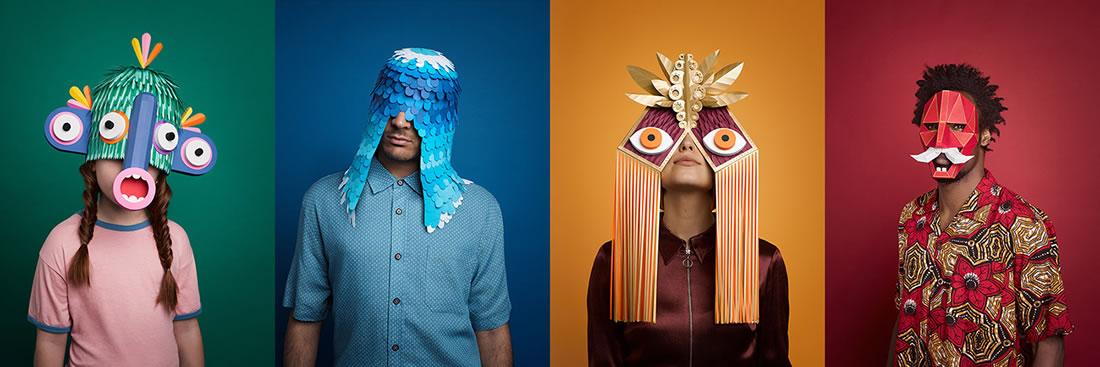 Des superbes masques Greek en Papier pour le Festival de Barcelone 5