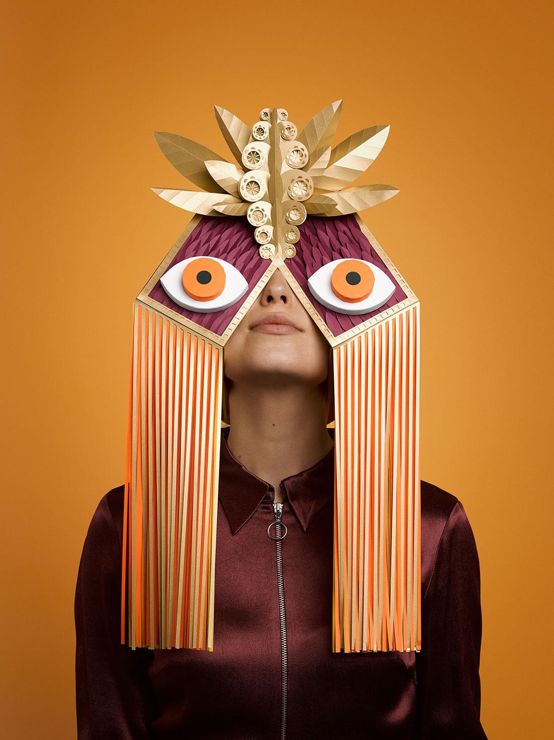 Des superbes masques Greek en Papier pour le Festival de Barcelone 6