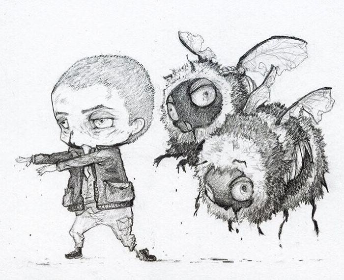 [Illustration] Des abeilles en mode Superhéros 13