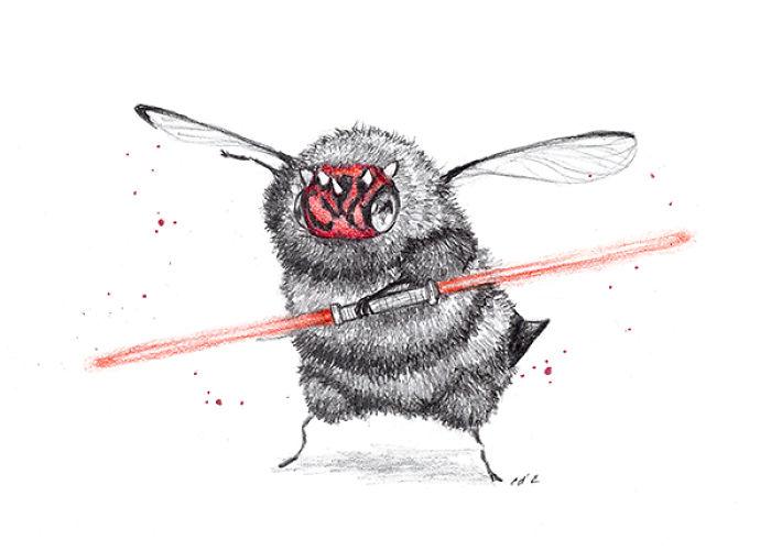 [Illustration] Des abeilles en mode Superhéros 15