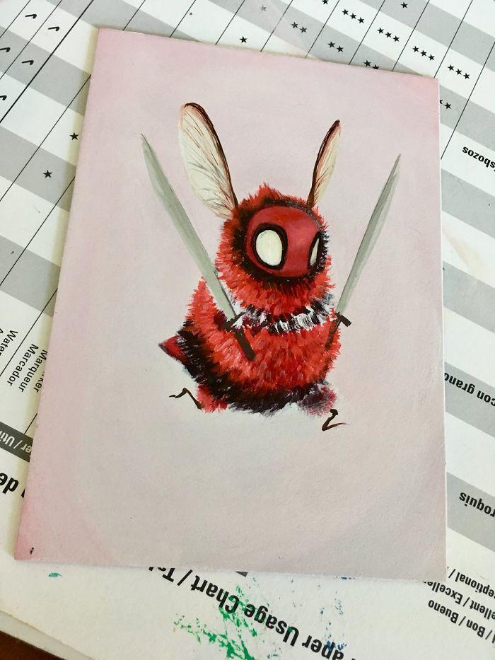 [Illustration] Des abeilles en mode Superhéros 16