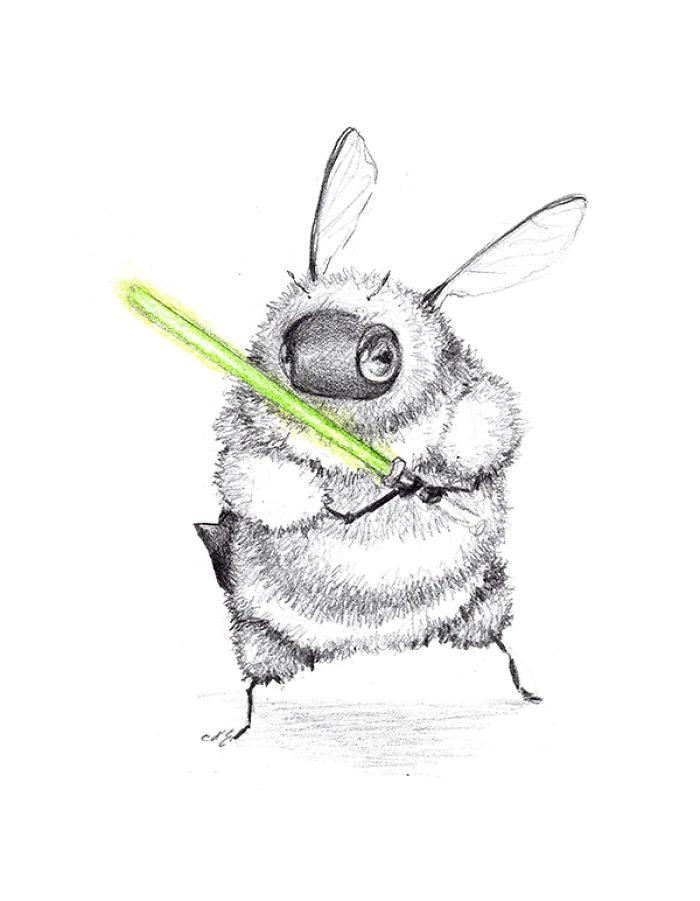 [Illustration] Des abeilles en mode Superhéros 17