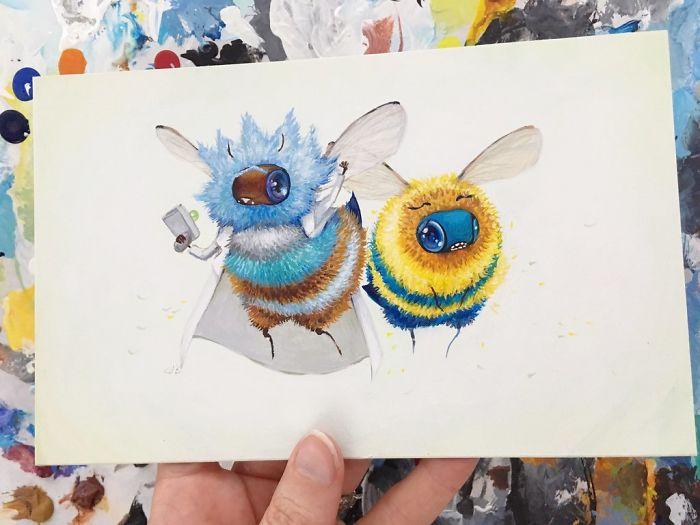 [Illustration] Des abeilles en mode Superhéros 20