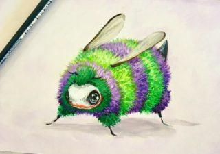 [Illustration] Des abeilles en mode Superhéros 1