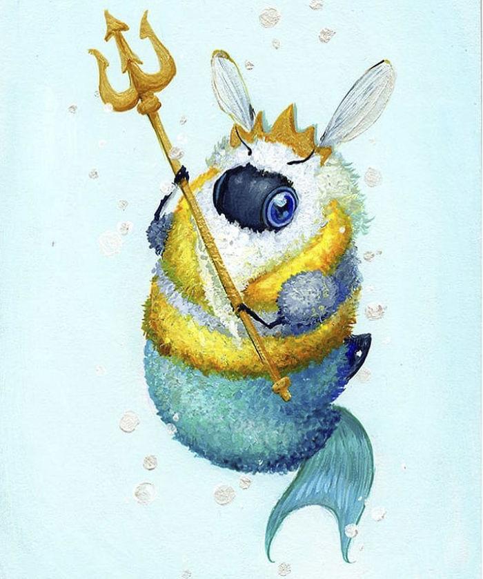 [Illustration] Des abeilles en mode Superhéros 4