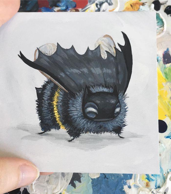 [Illustration] Des abeilles en mode Superhéros 7