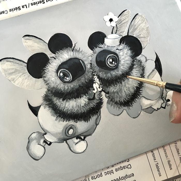 [Illustration] Des abeilles en mode Superhéros 8