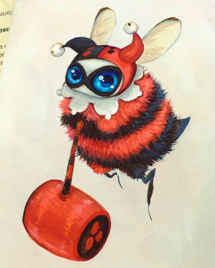 [Illustration] Des abeilles en mode Superhéros 9