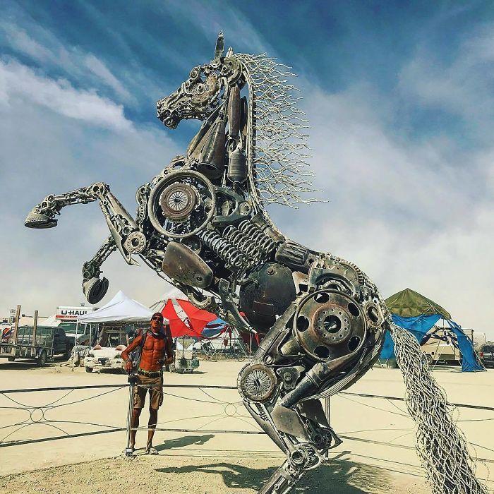 Les meilleures photos du Burning Man 2018 et ses créations grandioses 42