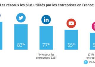 Usage des médias sociaux dans les entreprises en France 1