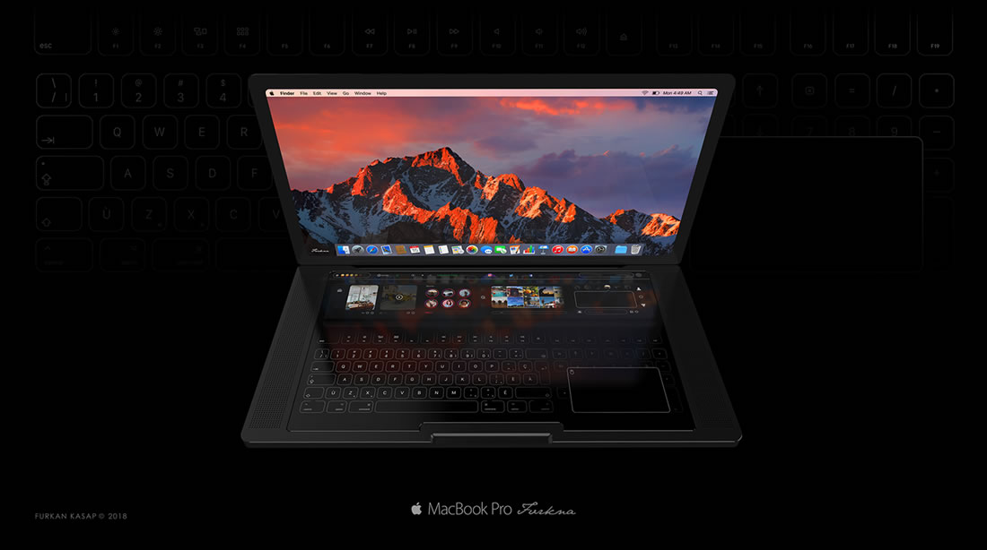 Concept de Touchbar pour Macbook Pro 2018 2
