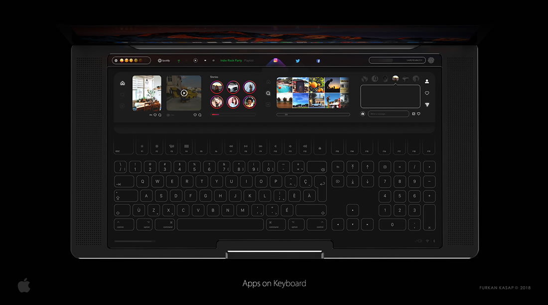 Concept de Touchbar pour Macbook Pro 2018 3