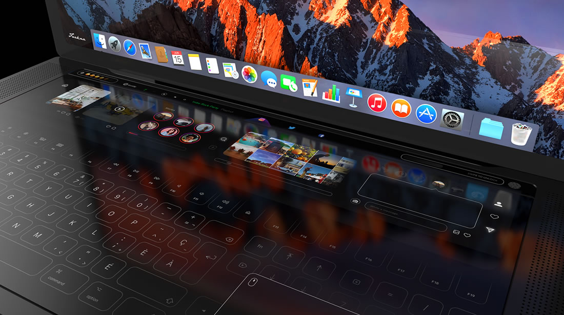 Concept de Touchbar pour Macbook Pro 2018 4