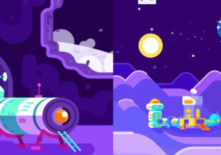 Superbe Animation Rétro : Et si l'homme construisait une base sur la Lune ? 1
