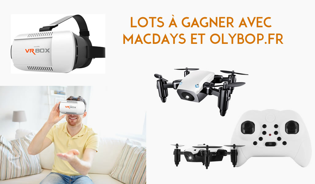 Concours - MacWay vous offre 2 Drones et 2 Casques VR pour ses MacDays ! 2