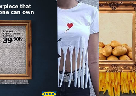 25 meilleurs parodies Newsjacking de la destruction de l'oeuvre de Banksy 2