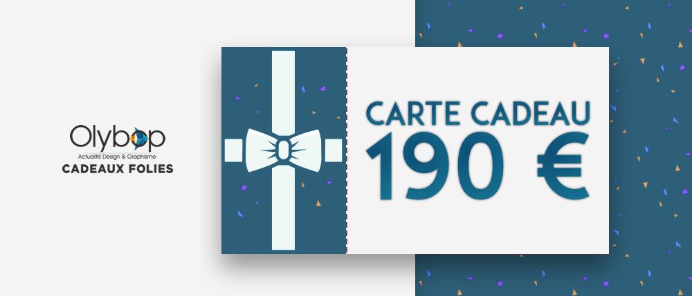 Concours Noël - un bon d'achat de 190 € à gagner avec CadeauxFolies 2