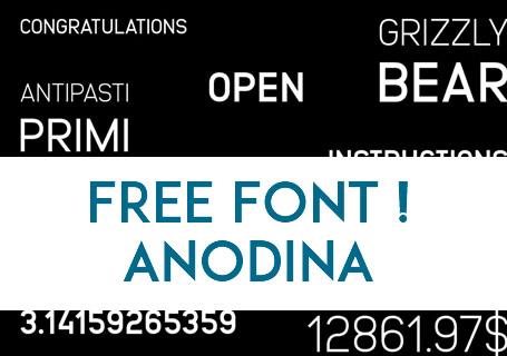 Typographie Gratuite pour Logo, Titre et c'est la ANODINA Symmetric Font 11