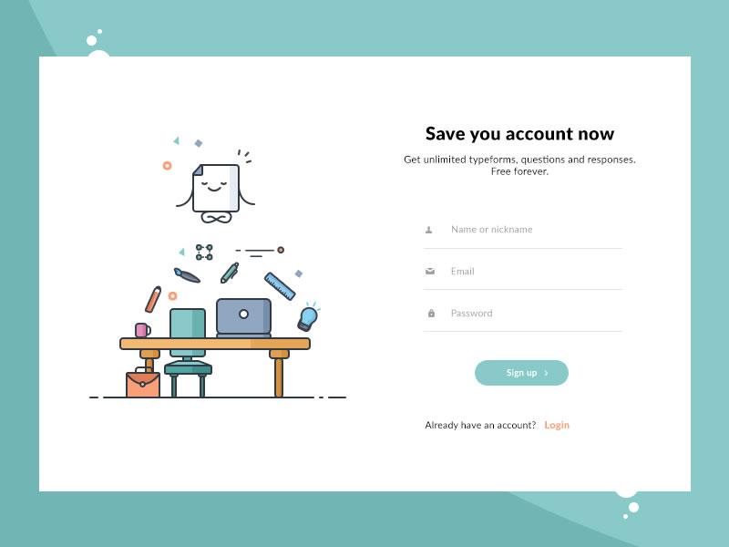 Inspiration : UX/UI les bonnes pratiques d'un formulaire de connexion (Login Form) 6