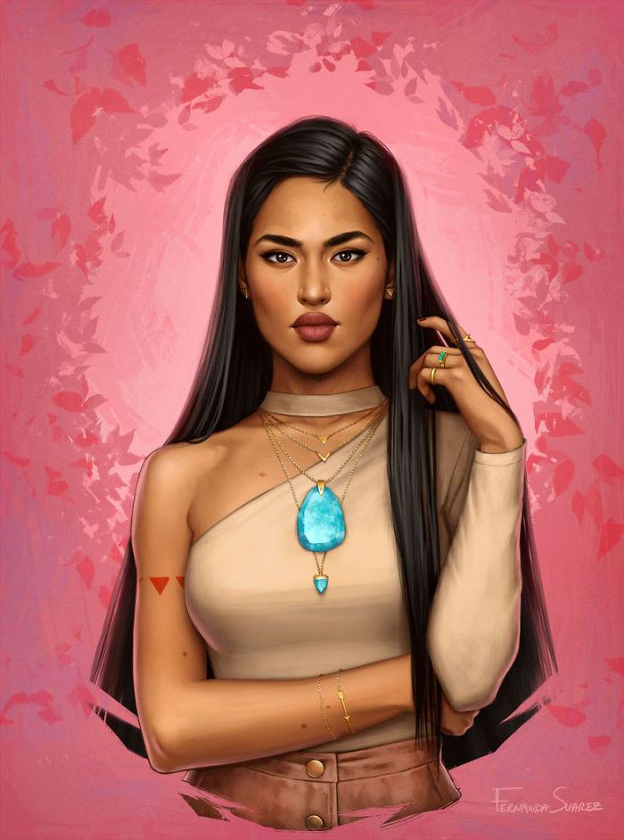 À quoi ressembleraient les Princesses DISNEY avec un style 2018 ? 6