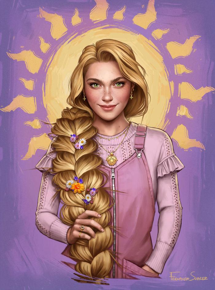 À quoi ressembleraient les Princesses DISNEY avec un style 2018 ? 7