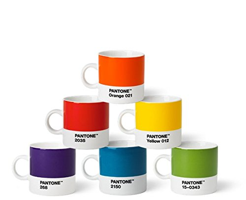 Lot de 6 Tasses Pantone