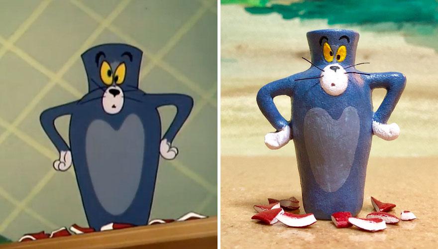 Scupltures de Tom (et Jerry) dans des formes improbables et hilarantes 5
