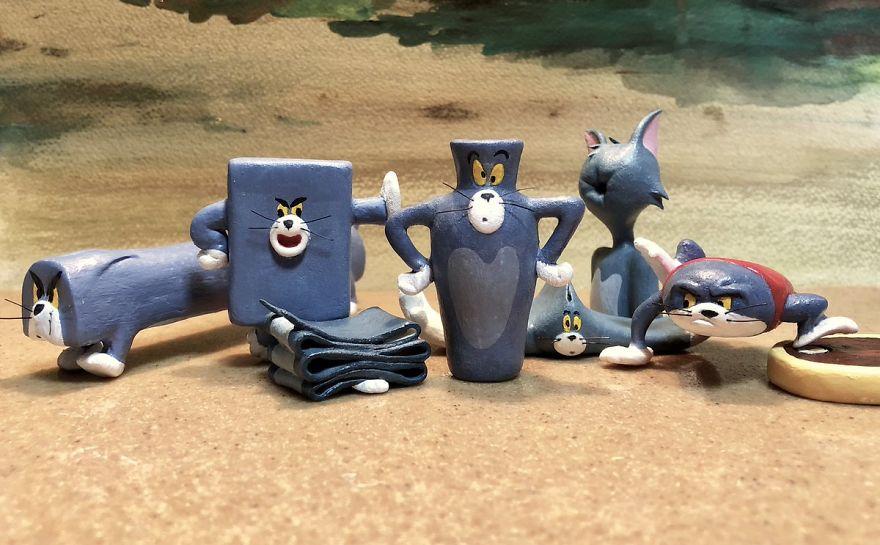 Scupltures de Tom (et Jerry) dans des formes improbables et hilarantes 9