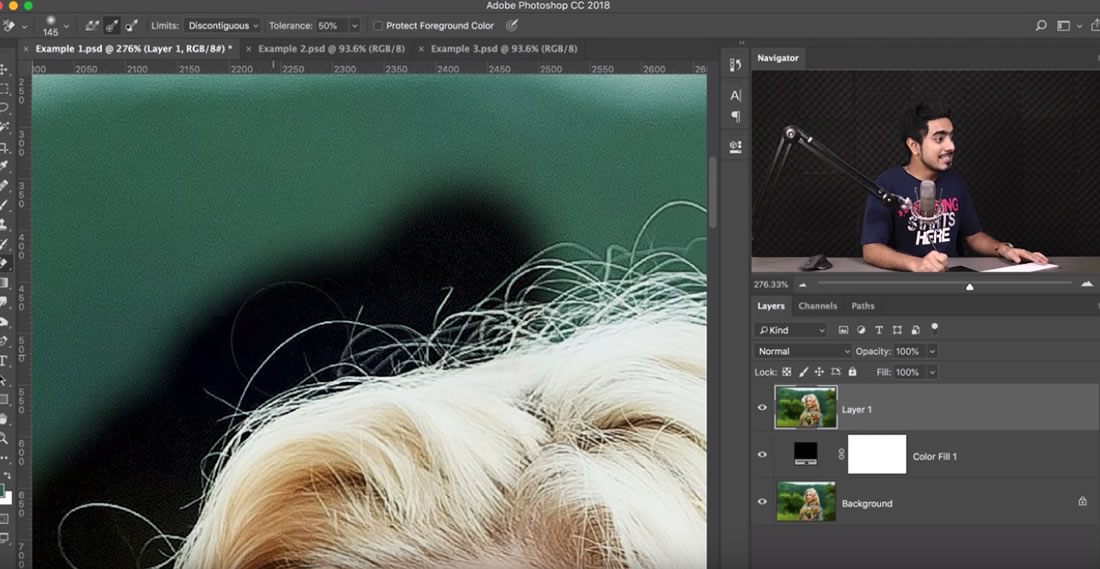 L'outils Gomme Photoshop pour supprimer un arrière plan proprement 2
