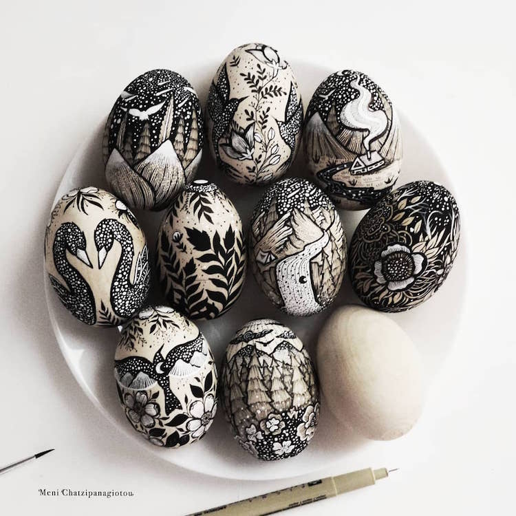 Des illustrations à l'encre en noir et blanc magnifiques 2