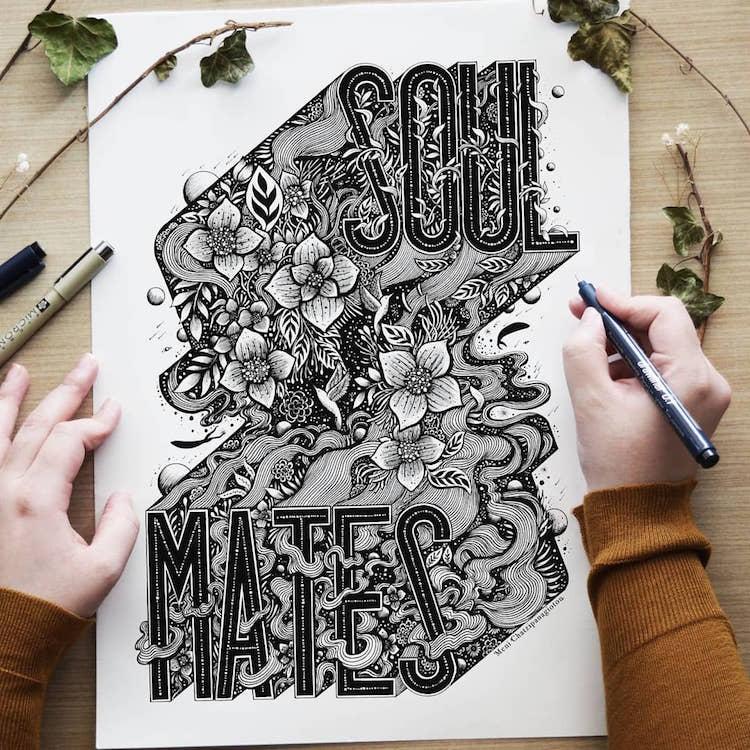 Des illustrations à l'encre en noir et blanc magnifiques 11