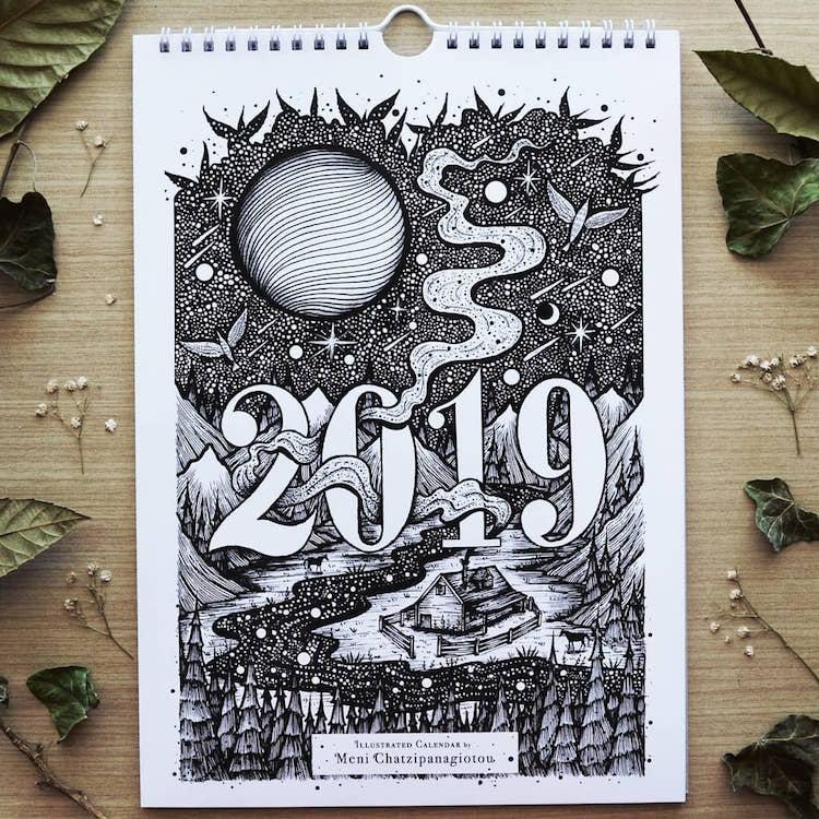 Des illustrations à l'encre en noir et blanc magnifiques 13