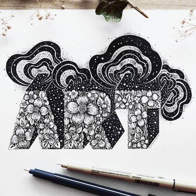 Des illustrations à l'encre en noir et blanc magnifiques 4