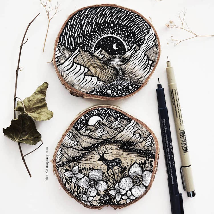 Des illustrations à l'encre en noir et blanc magnifiques 8