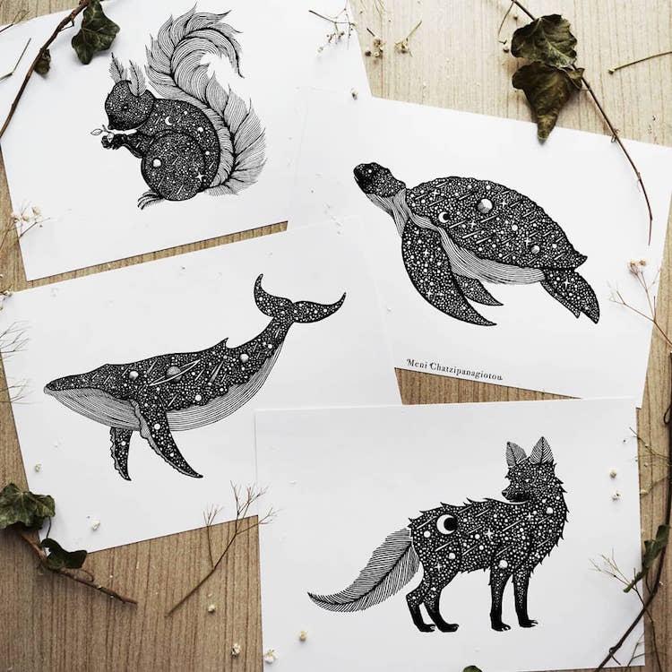 Des illustrations à l'encre en noir et blanc magnifiques 9