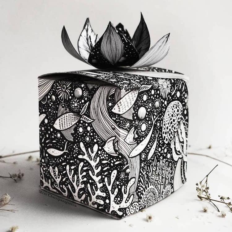 Des illustrations à l'encre en noir et blanc magnifiques 10