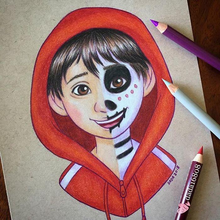 Dessin : Mixer les visages des personnages de dessins animés 19