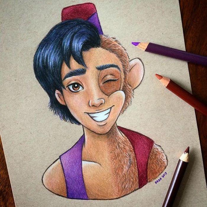 Dessin : Mixer les visages des personnages de dessins animés 20
