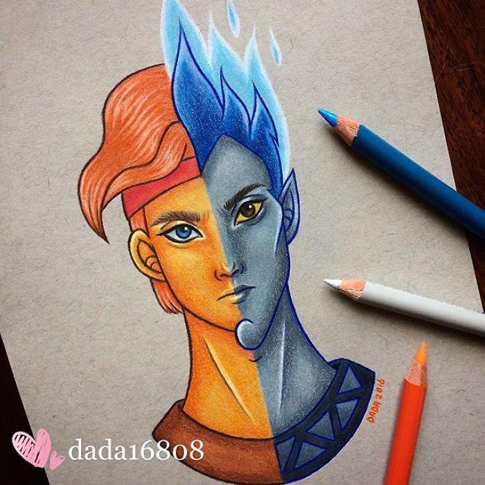 Dessin : Mixer les visages des personnages de dessins animés 37