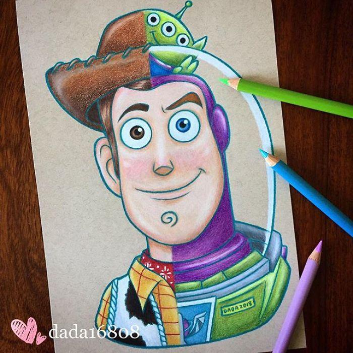 Dessin : Mixer les visages des personnages de dessins animés 8