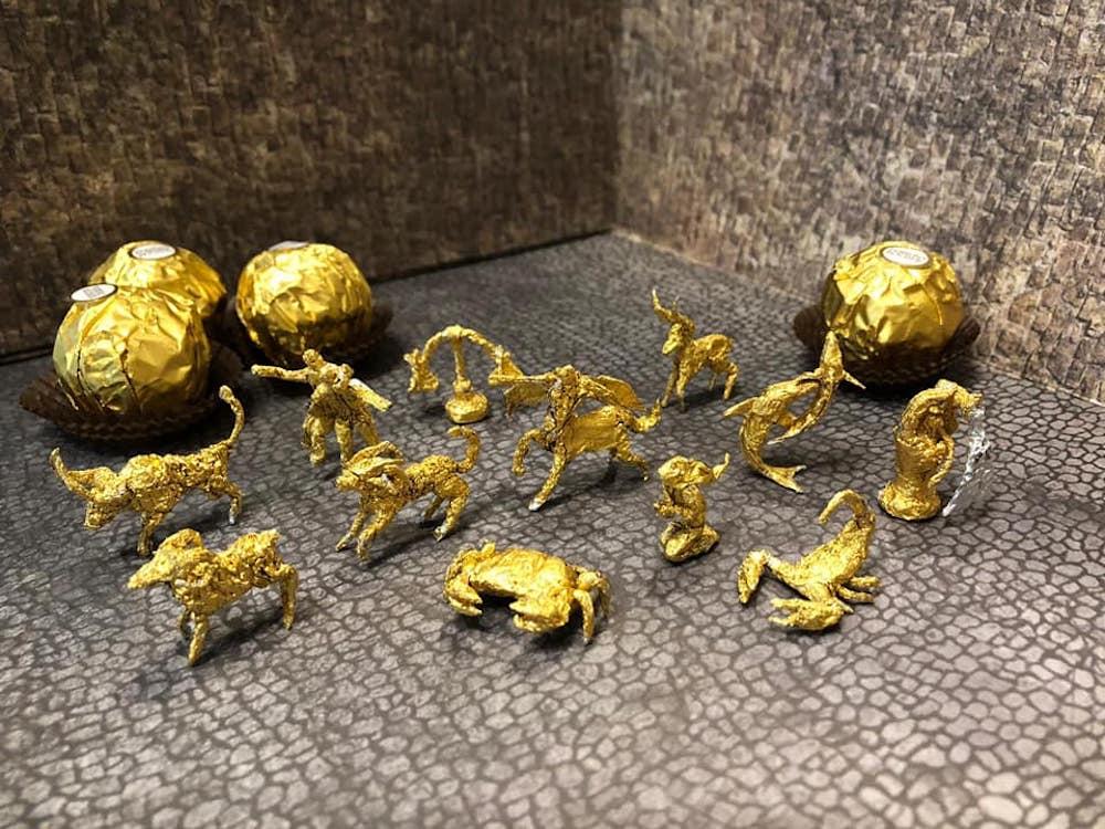 Les sculptures en Ferrero rocher par Ciro Wai 11