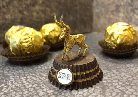 Les sculptures en Ferrero rocher par Ciro Wai