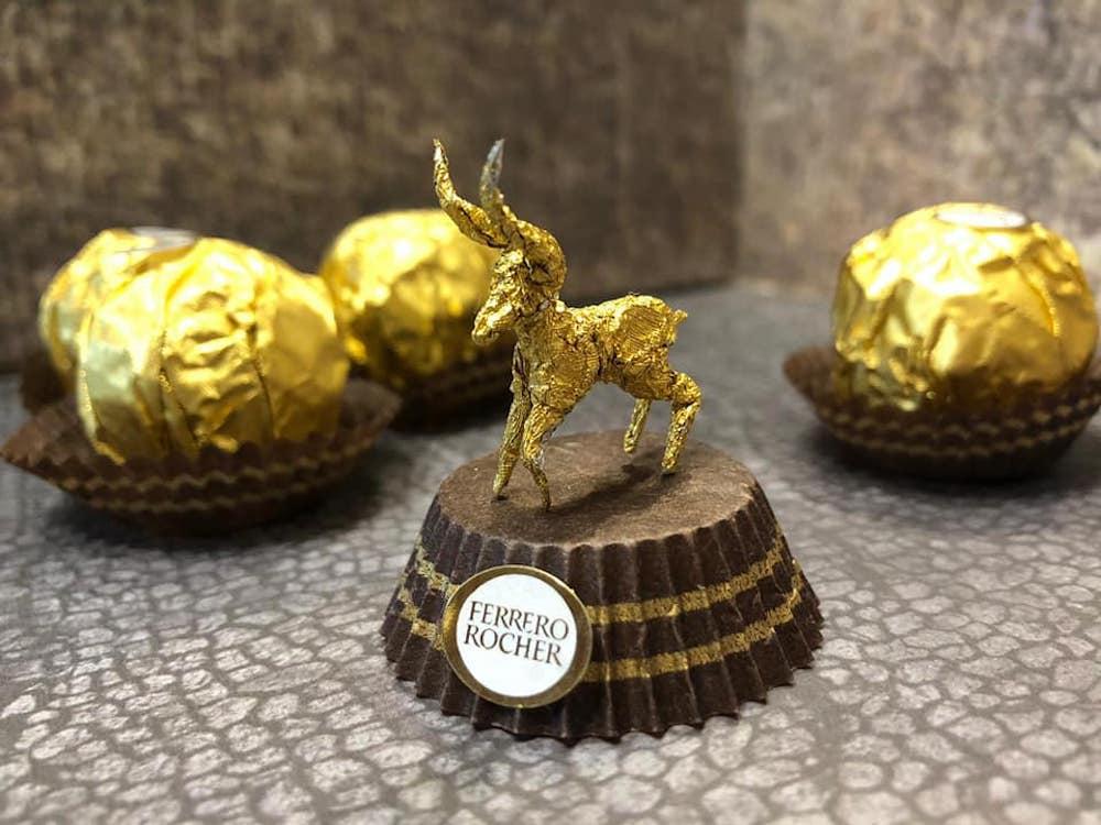 Les sculptures en Ferrero rocher par Ciro Wai 2