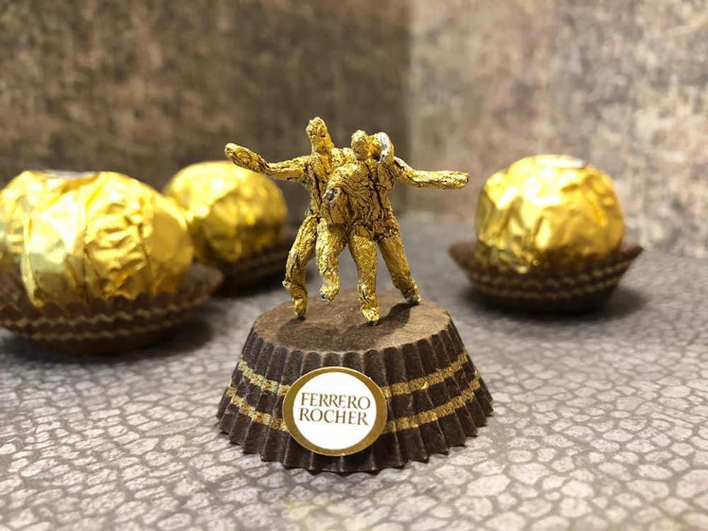 Les sculptures en Ferrero rocher par Ciro Wai 9