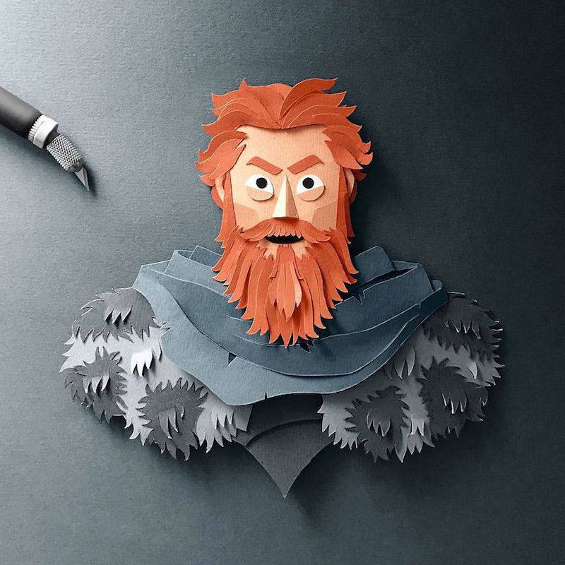 Paper Toys Game of Thrones : Les portraits des personnages en Papier 11