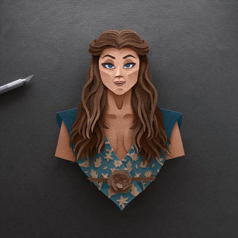 Paper Toys Game of Thrones : Les portraits des personnages en Papier 7