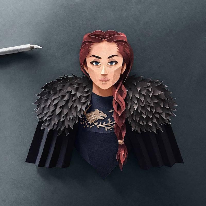Paper Toys Game of Thrones : Les portraits des personnages en Papier 9