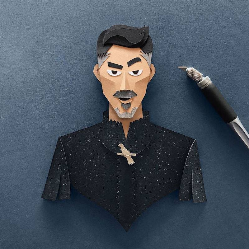 Paper Toys Game of Thrones : Les portraits des personnages en Papier 10