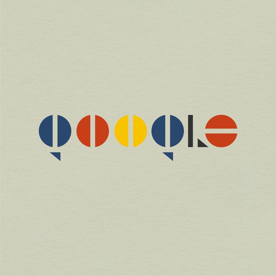 Redesign des Logos célèbres pour les 100 ans de Bauhaus 2