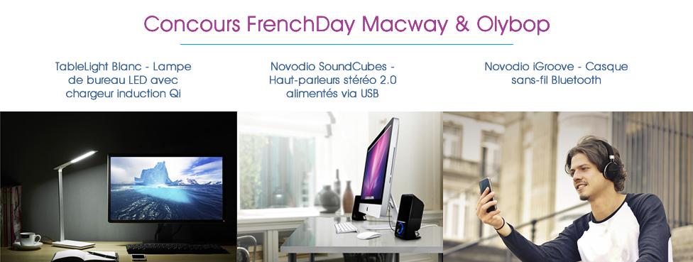 [Terminé] Concours : MacWay offre des cadeaux Design pour la FrenchDay 2